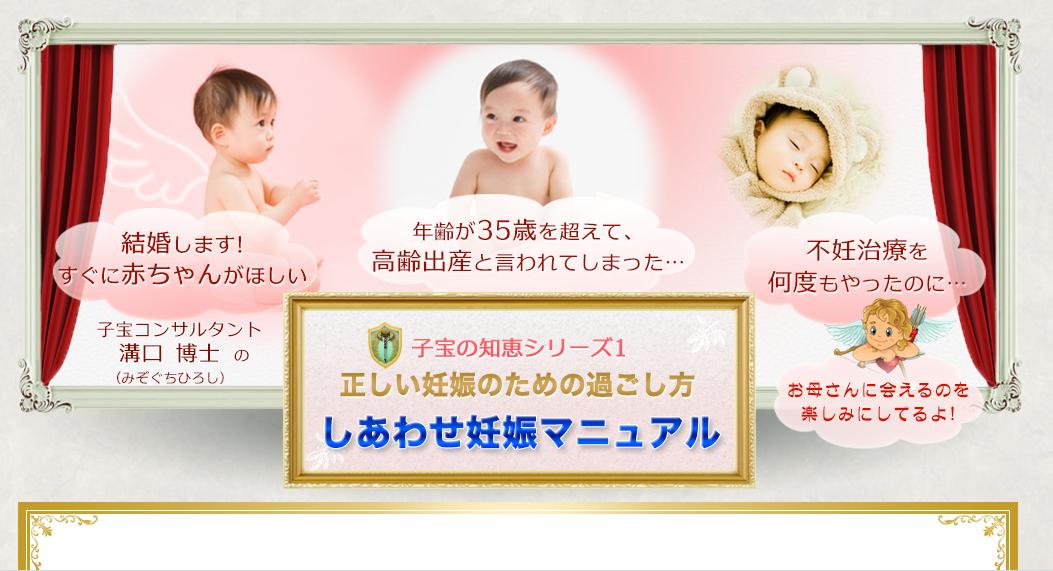 「しあわせ妊娠マニュアル」らくらく妊娠!さよなら不妊! 溝口博士の効果口コミ・評判レビュー