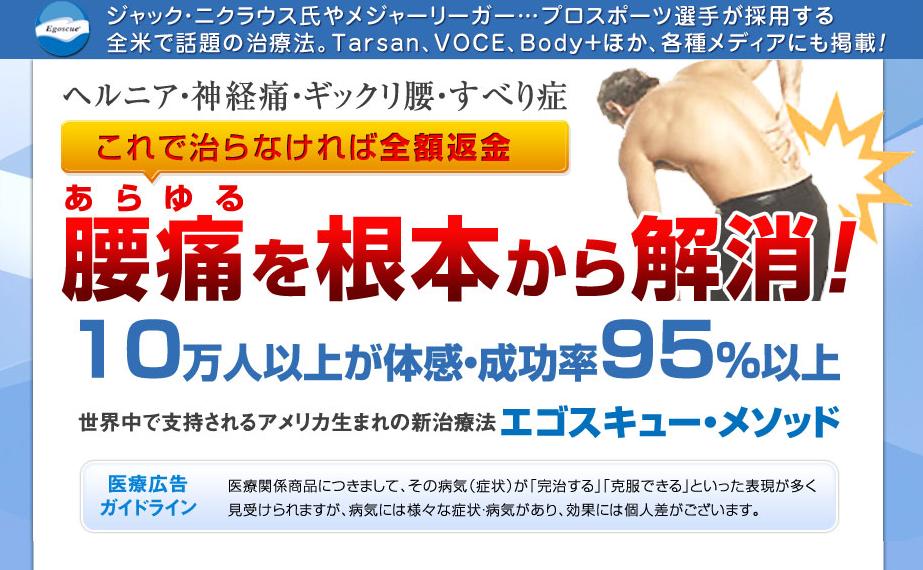 エゴスキュー腰痛解決プログラム 越山雅代の効果口コミ・評判レビュー
