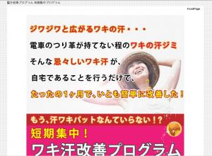脇汗改善プログラム短期集中講座 高瀬敬吾の効果口コミ・評判レビュー