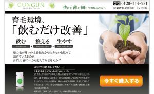 発毛・育毛サプリメントGUNGUN(ぐんぐん) 佐々木洋平の効果口コミ・評判レビュー